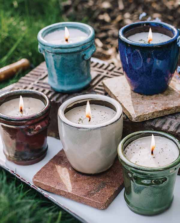 swan creek candle company Cambria pottery soy candles