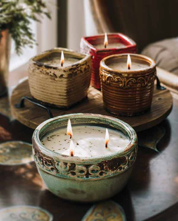 swan creek candle company vintage pottery soy candles