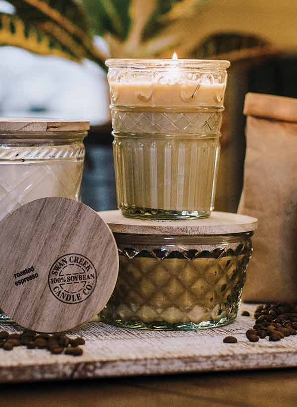 swan creek candle company timeless jar candles